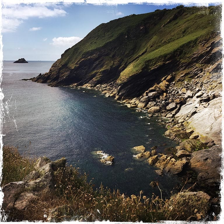 Portloe countryside Cornwall