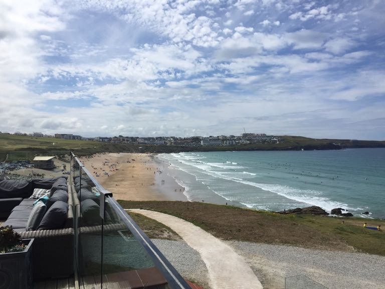 View from The Headland Hotel, Newquay, Cornwall